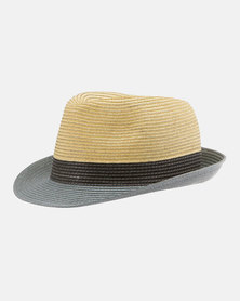 Emthunzini Stevie Natural Black Grey Sunhat 61cm