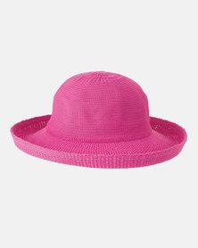 Emthunzini UPF50+ Petite Breton Hot Pink Sunhat 55cm