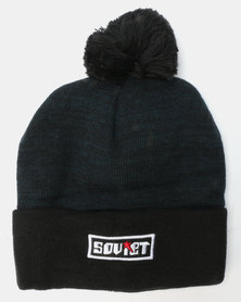 Soviet Youth Boys Lunar Pom Pom Beanie Navy