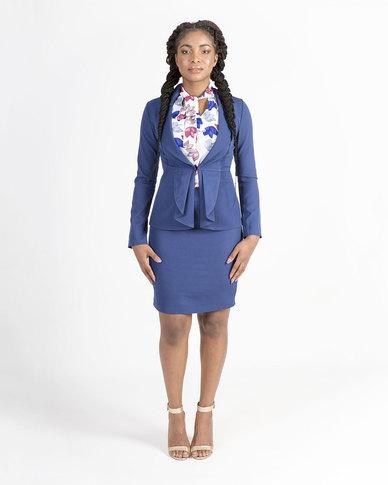 Mamoosh lace detail jacket Blue