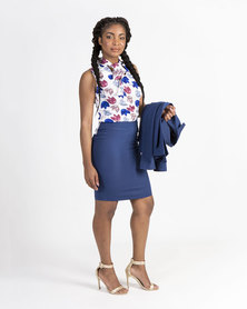 Mamoosh pencil skirt Blue