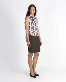 Mamoosh pencil skirt Olive