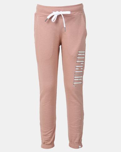 Rip Curl Girls Teen Boston Coral Track Pants Pink