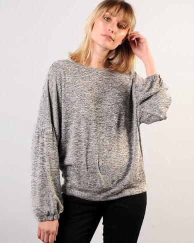 Marique Yssel Bishop Sleeve Sweatshirt - Whisper Grey