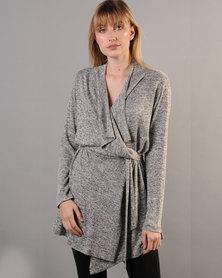 Marique Yssel Draped Cardigan - Grey Melange