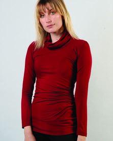 Marique Yssel Gauged CC L/S Top - Wine