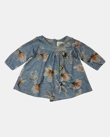 Razberry Baby Girl Floral Print Knit Dress