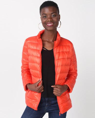 Utopia Down Inner Puffer Jacket Orange