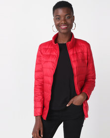 Utopia Down Inner Puffer Jacket Red