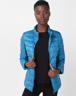 Utopia Down Inner Puffer Jacket Turquoise