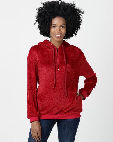 Utopia Teddy Sweatshirt Wine Red