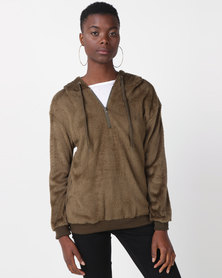Utopia Teddy Sweatshirt Olive