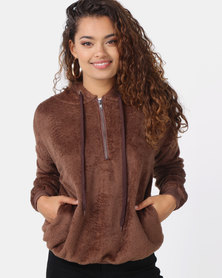 Utopia Teddy Sweatshirt Camel