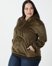 Utopia Plus Teddy Sweatshirt Olive