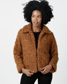 Utopia Teddy Jacket Cinnamon