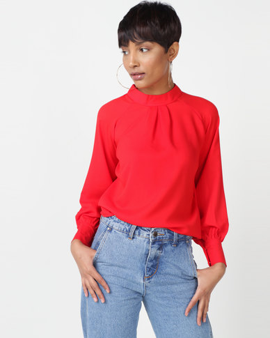 Utopia Georgette Blouse Red