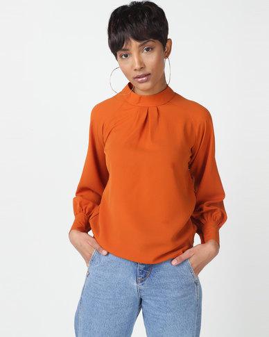 Utopia Georgette Blouse Orange