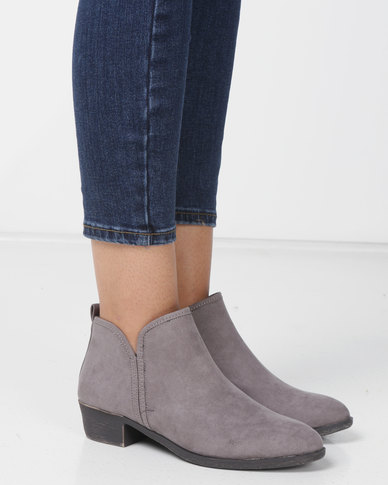 Madison Western Ankle Boots Grey