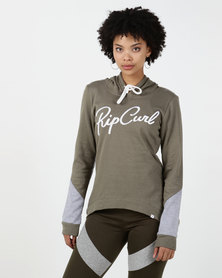 Rip Curl Low Tide Fleece Sweatshirt Green