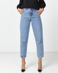 Utopia Light Wash Mom Jeans Blue