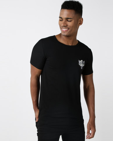 Utopia Fox Badge T-shirt Black