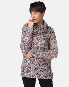 Cath Nic By Queenspark Multi Colour Cowlneck Jersey