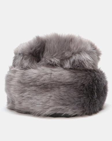 Queenspark Faux Fur Turn-up Hat Grey
