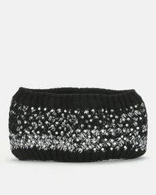 Queenspark Knitted Band With Glam Beading Black