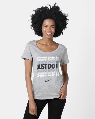 Nike Womens NSW Tee JDI Gradient QT Grey