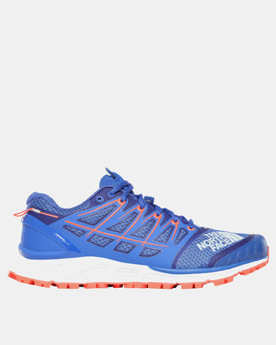 bc774858b28f3 The North Face Ultra Endurance II Running Shoes Blue Fiery Coral