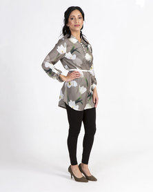 Mamoosh floral Tulip tunic Grey