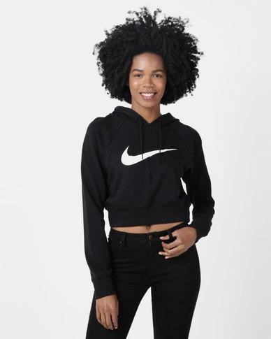 Nike W NSW Swoosh Hoodie Crop FT Black