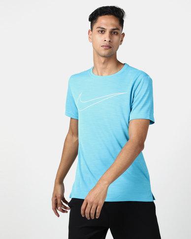 Nike Performance M NK Superset Top SS GFX Blue