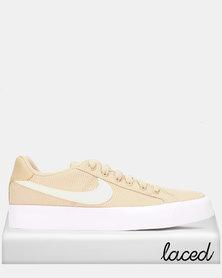 Nike Womens Nike Court Royale AC SE Sneakers Desert ORE/Pale Ivory