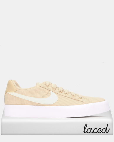 Nike Womens Nike Court Royale AC SE Sneakers Desert ORE/Pale Ivory