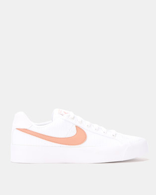 classic fit eb261 44555 Nike Womens Court Royale AC SE White
