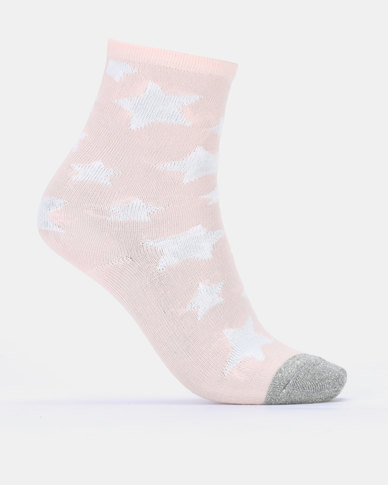 13e00b4bd7f3f Converse CHG 3PK Girl All Star High Crew Socks Converse Star Pink