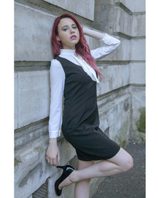 Mamoosh pinafore dress Black and white