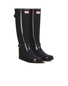 Hunter Original Refined Back Adjustable Tall Gloss Navy