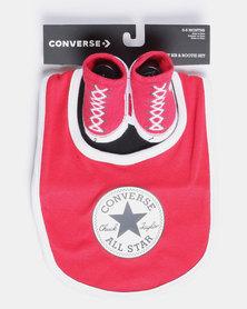 Converse Chuck Bib & Bootie Set Red