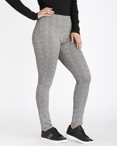 Contempo Check Leggings Black