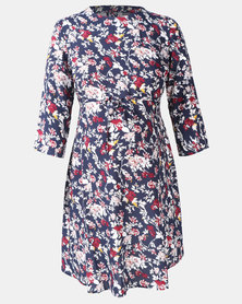 Cherry Melon Flared Tunic Autumn Floral