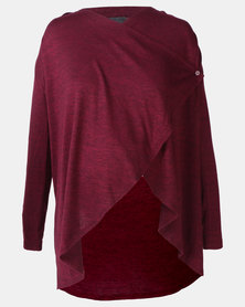 Cherry Melon Waterfall Cardi Port