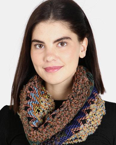 UB Creative Knit Infinity Scarf - Blue Multi