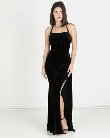 Touch of Sass Velvet Gown - Black