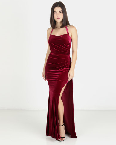 Princess Lola Boutique Touch of Sass Velvet Gown - Rosey