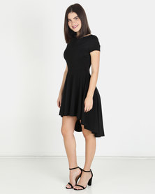 Finders Keepers Skater Dress Black