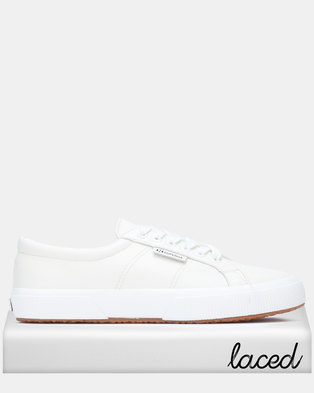 27fa91e9613706 Superga Nappa Leather White