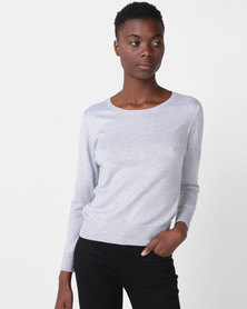 Royal T Chuncky Round-neck Jumper Grey