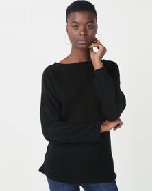 Royal T Off Shoulder Jumper Black